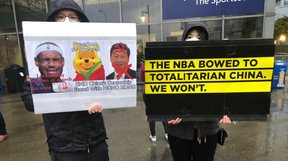 Hong Kong Supporters Rally As Nba Comes To Vancouver