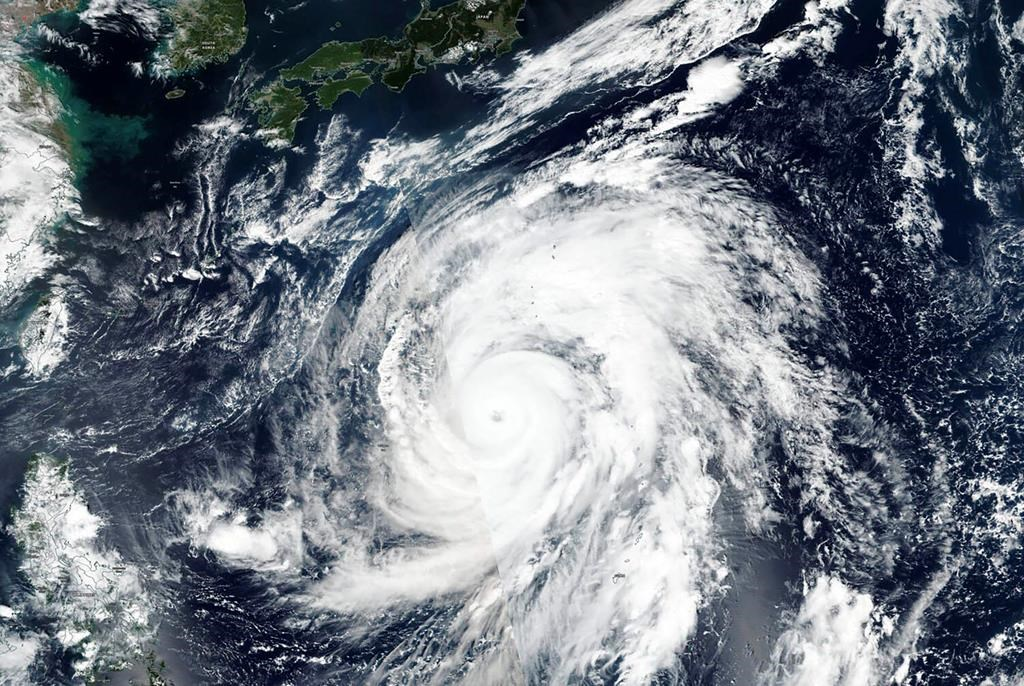 Typhoon off Japan causes flight cancellation at Vancouver airport