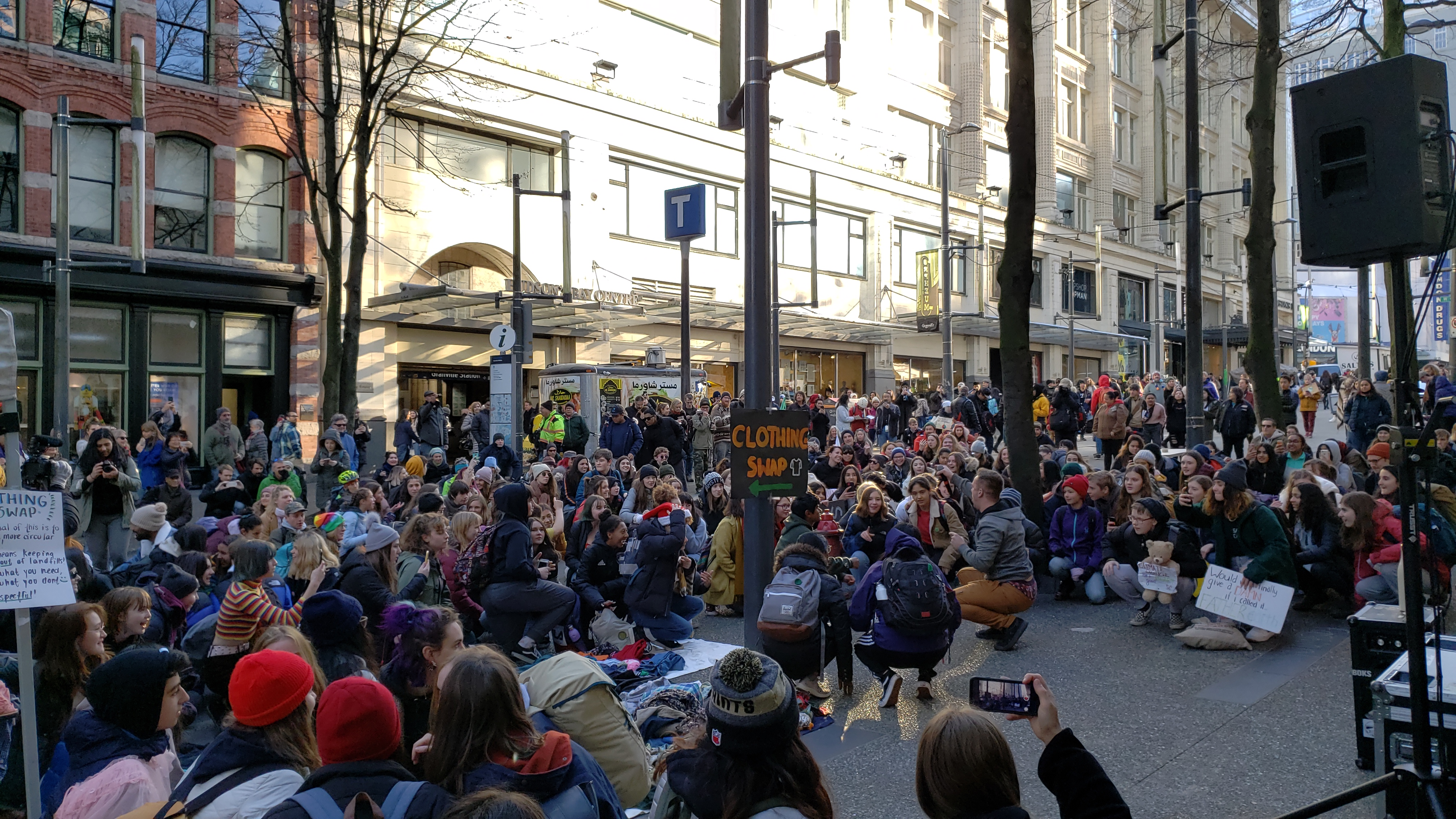 Vancouver teen climate group protests Black Friday shopping