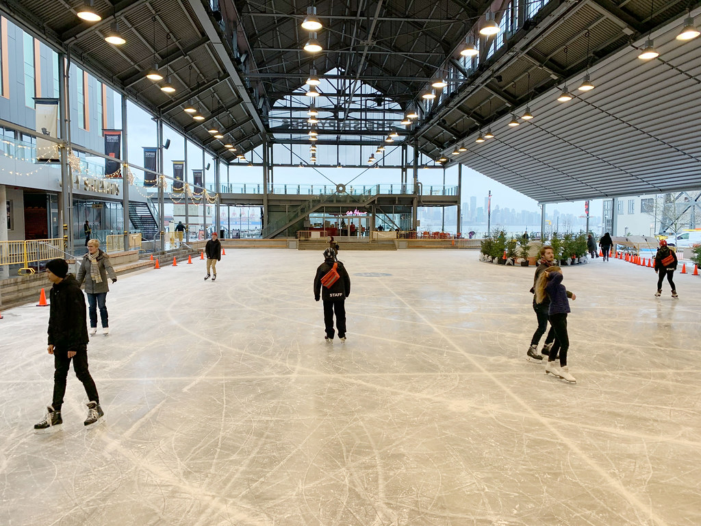 Massive Free Outdoor Ice Rink Opens At North Vancouver Shipyards News 1130