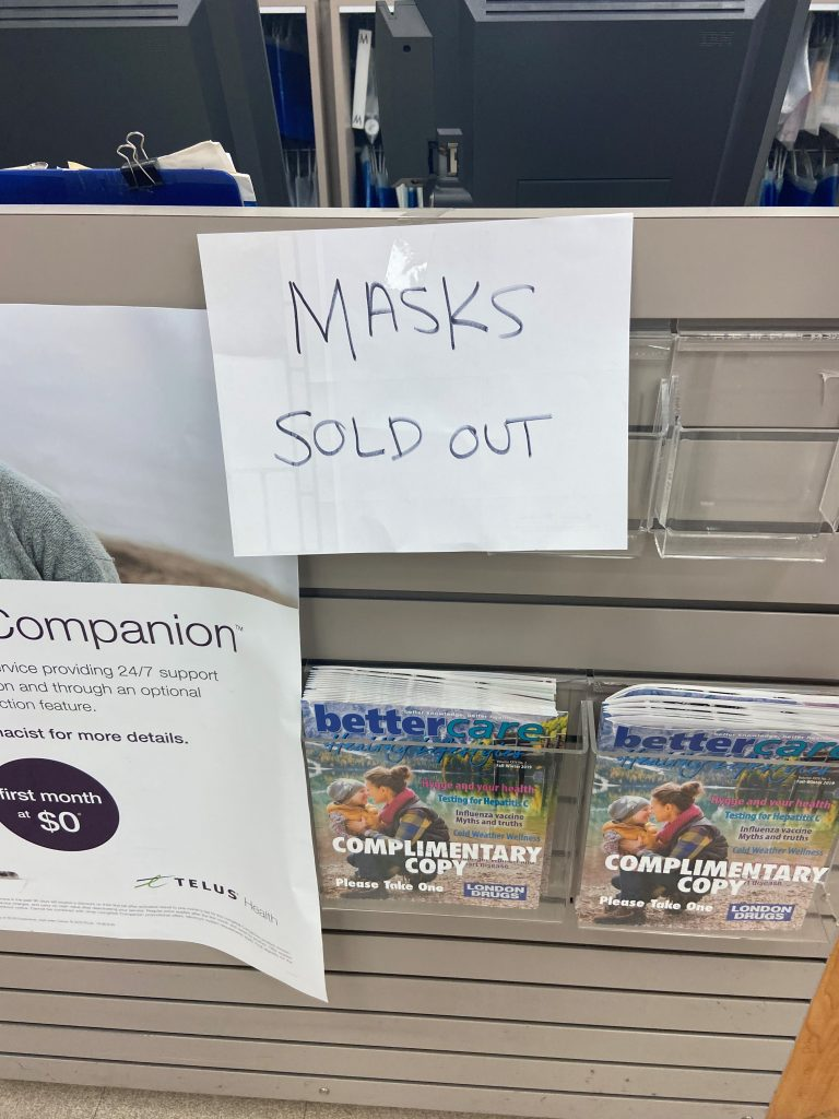 Around Of Surgical Vancouver Face Metro Pharmacies Masks Out Sell