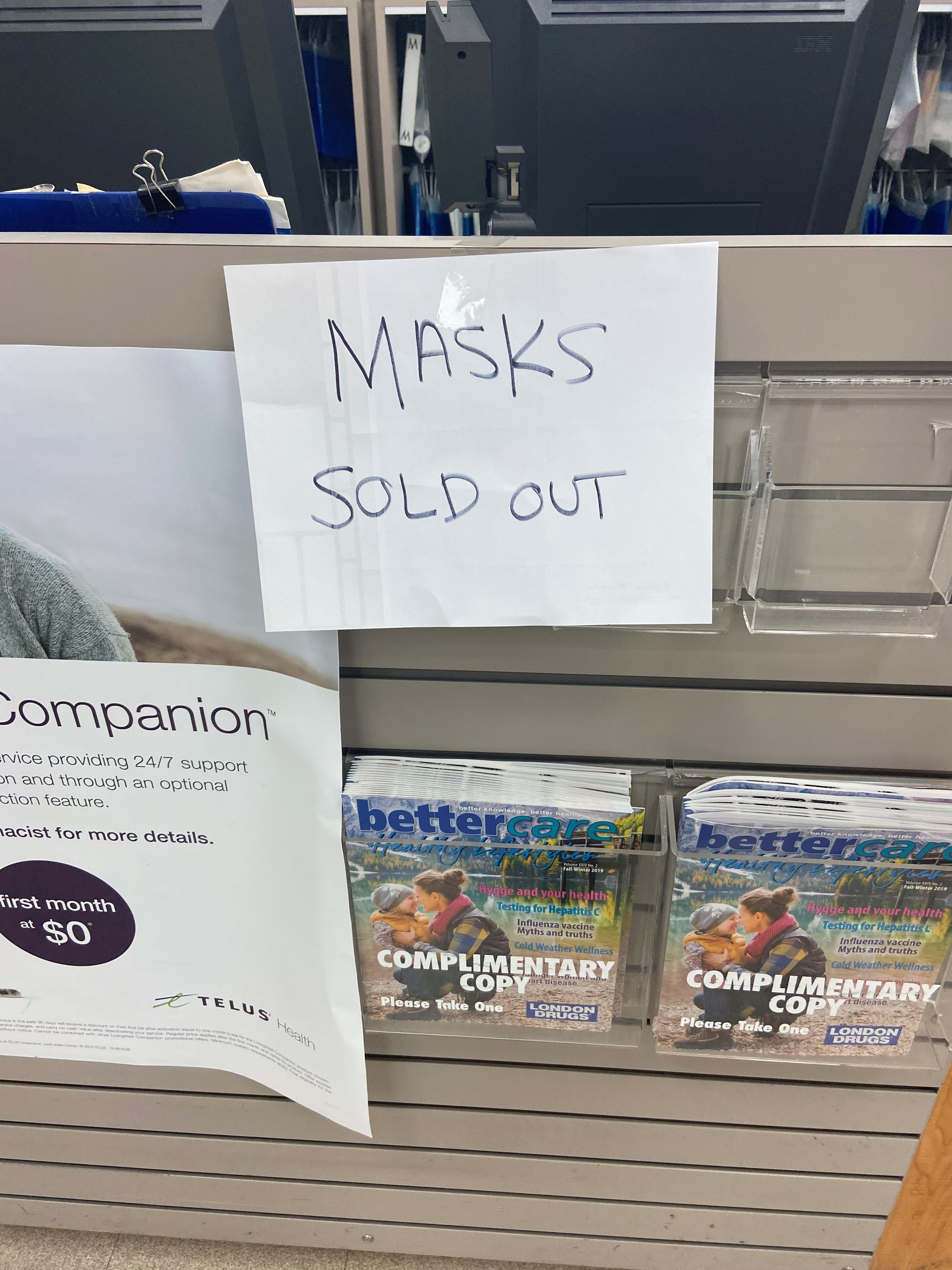 Pharmacies Of Surgical Out Masks Sell Vancouver Metro Around Face