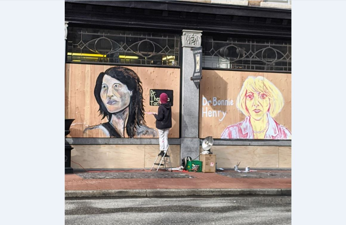 Boarded-up businesses turning into art for Vancouver Mural Festival campaign - NEWS 1130