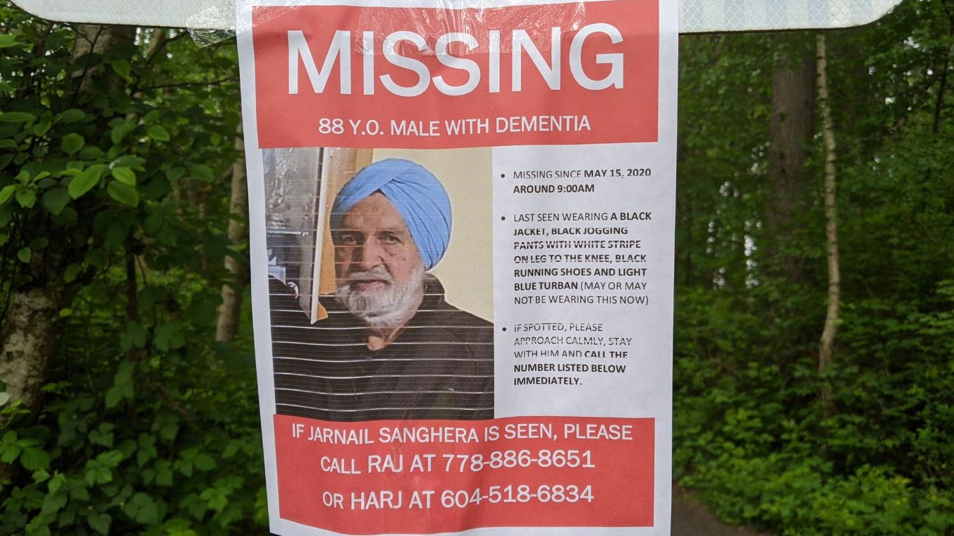 Delta police looking for 3 people who crossed paths with missing senior - NEWS 1130