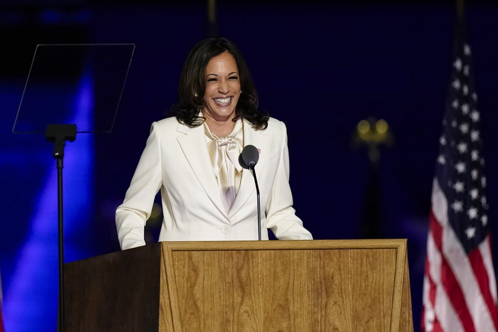 Kamala Harris pays tribute to mother, Black women in first speech as  VP-elect - NEWS 1130